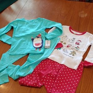 NWT Christmas Pajama Themed Pajama Bundle